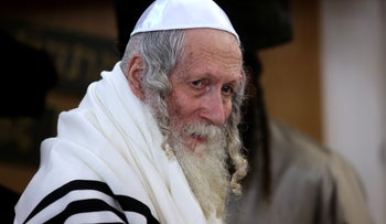 Rabbi Eliezer Berland, the head of the 'Shuvu Banim' Hasidic community in Jerusalem. He was paroled in 2017 after serving 10 months in prison for sexual assault and other offenses.