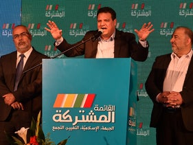 Joint List chairman Ayman Odeh speaks at a press conference in Shfaram, March 2, 2020.