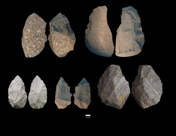 "Somewhat more sophisticated ""Mode 2"" Acheulian tools found at Gona"