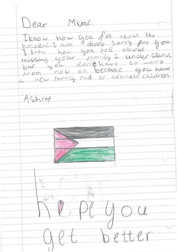 A letter sent to Miral.