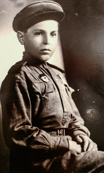Privler as a child, during the Holocaust.