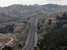 Route 1, near the settlement of Ma'ale Adumim, Section E-1, West Bank, February 26, 2020.