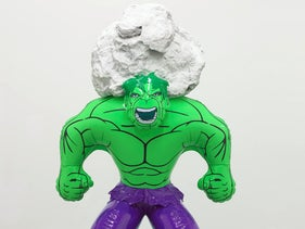 A Hulk Elvis sculpture shown at the exhibition 'Jeff Koons: Absolute Value / From the Collection of Marie and Jose Mugrabi' at the Tel Aviv Museum of Art.