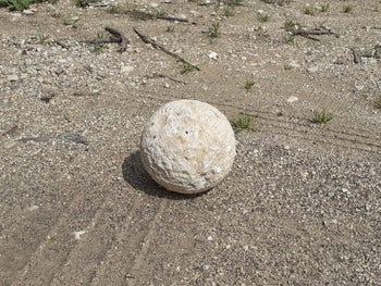 The specific ballista rock that a penitent thief returned through a third party