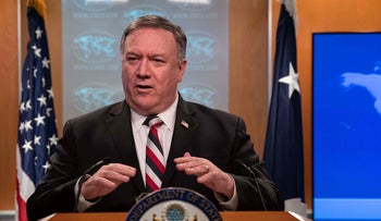 US Secretary of State Mike Pompeo speaks at a press conference at the State Department in Washington DC, on March 17, 2020.