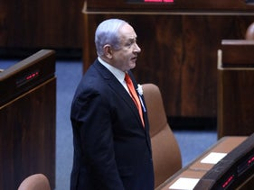 Benjamin Netanyahu at the Knesset, March 16, 2020.