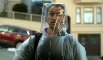 "Jude Law in ""Contagion."""