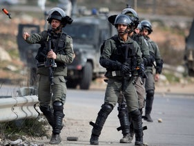 IDF soldiers during an operation near Ramallah, February 2020.