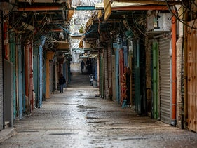 Empty streets in Jerusalem's Old City amid the coronavirus pandemic, March 20, 2020.
