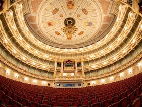 The main hall of the Semperoper is empty in Dresden, Germany, on March 12, 2020.
