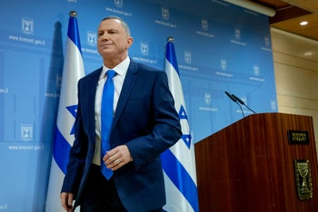 Knesset Speaker Yuli Edelstein in the Knesset, January 12, 2020