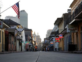 A view of Bourbon Street amid the outbreak of the coronavirus disease (COVID-19), in New Orleans, Louisiana, U.S. March 25, 2020