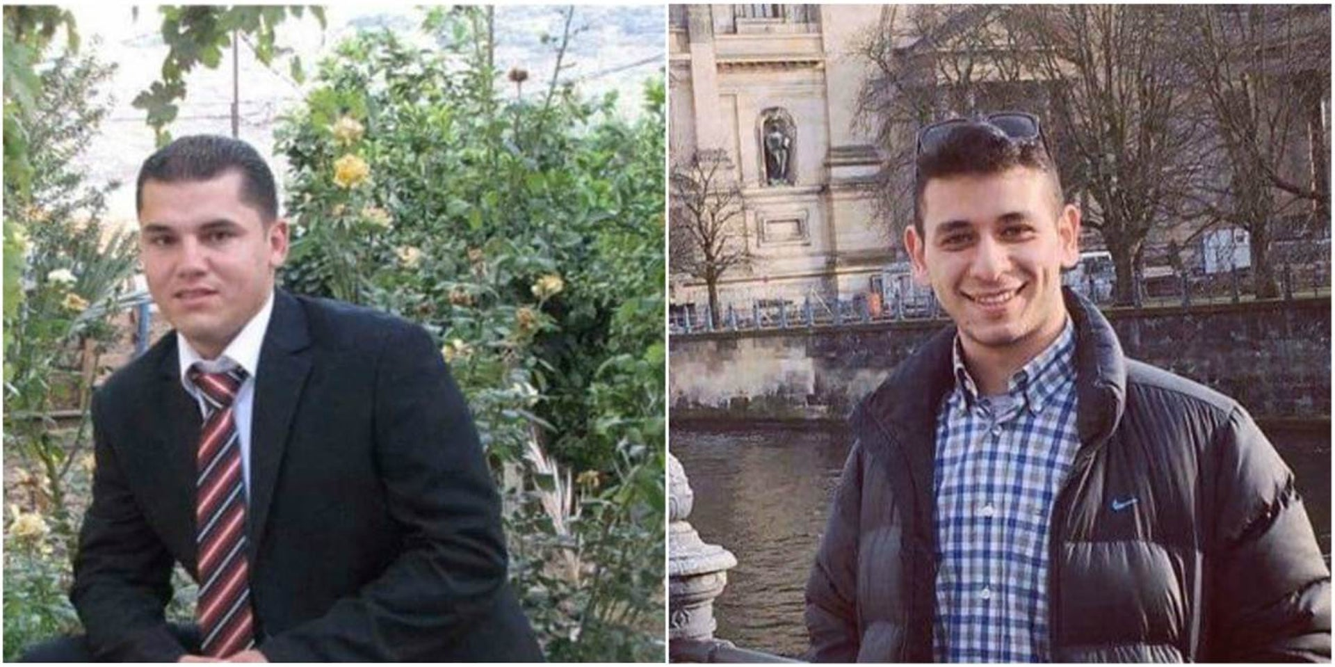 """Fadi Abdo, left, and Montaser Hattab. """"In Tul Karm you feel fear in the streets."""""""