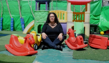 Nurit Bar-Or at her daycare in Carmiel.