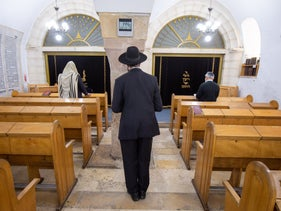 Hurva Synagogue in Jerusalem, March 24, 2020