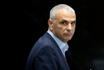 Israeli Finance Minister Moshe Kahlon, Jerusalem, March 12, 2020.