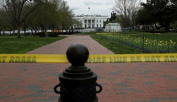 The White House is seen in the middle of the day while the spread of coronavirus disease (COVID-19) continues, in Washington, U.S., March 31, 2020.
