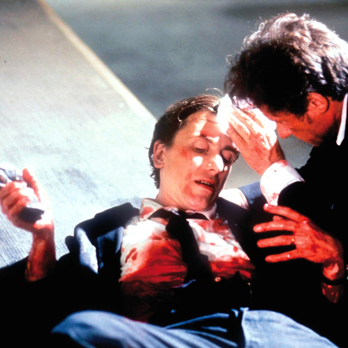 "Harvey Keital, right, with Tim Roth in ""Reservoir Dogs"" (1992). ""My movies are painfully personal,"" Tarantino said, ""but I'm never trying to let you know how personal they are."""