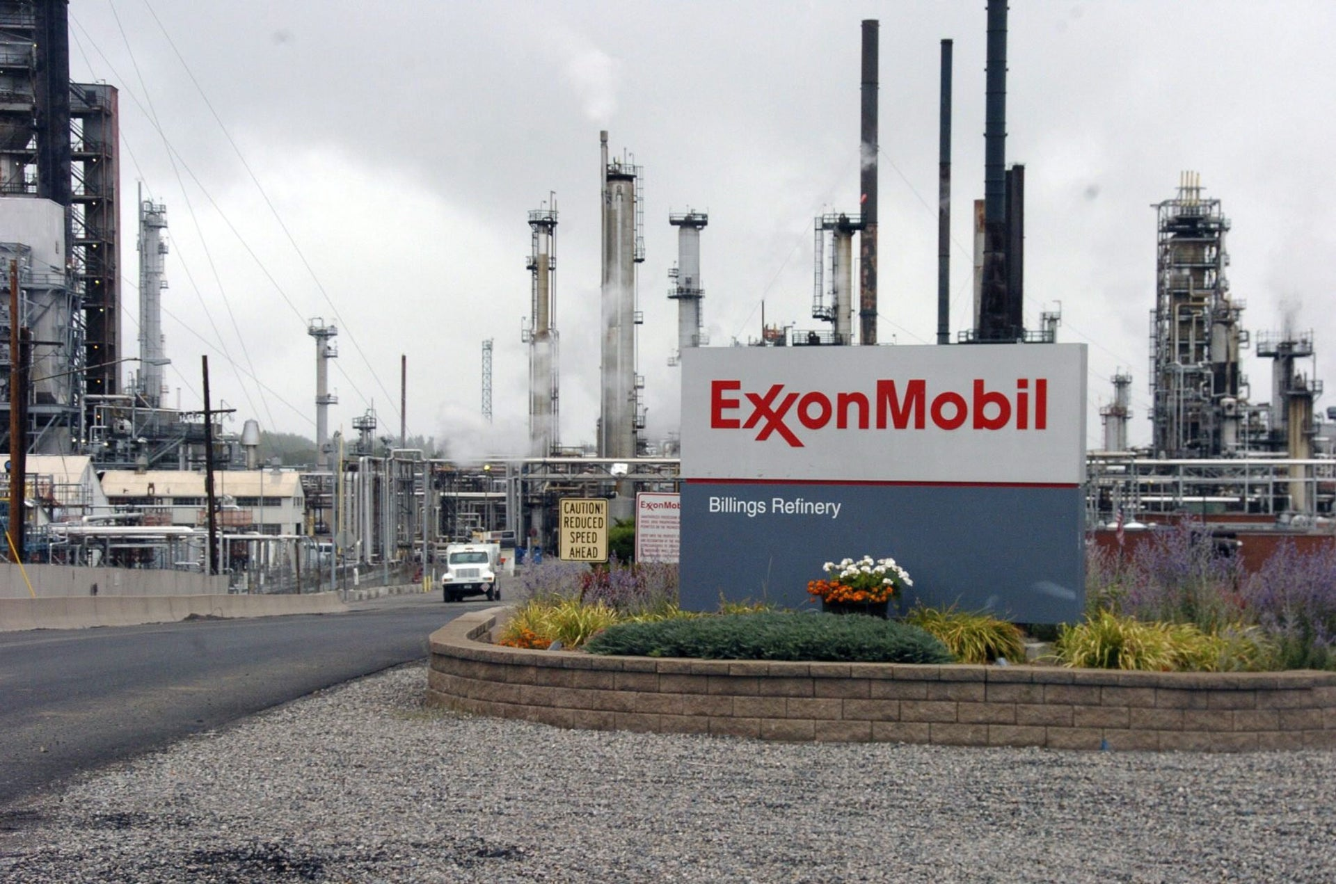 This Wednesday, Sept. 21, 2016, file photo shows Exxon Mobil's Billings Refinery in Billings, MT.