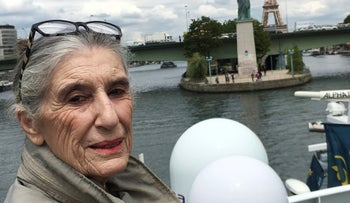 Holocaust Survivor Olga Weiss in France, June 20, 2019