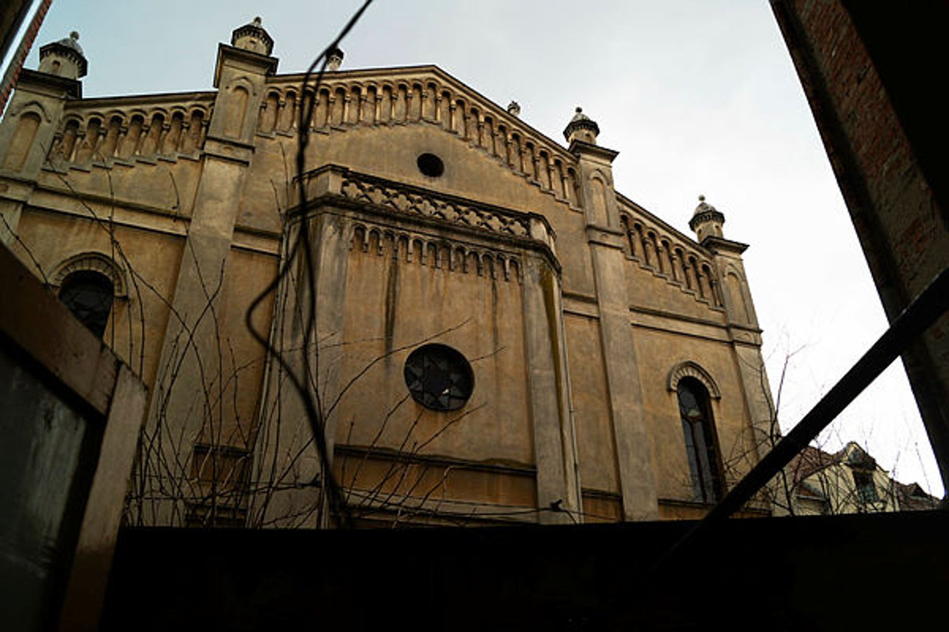 One of the remaining synagogues in Sibiu, Romania.