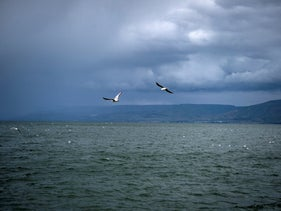 The Sea of ​​Galilee, this month. The Sea of ​​Galilee has improved, but there is a well-established concern that in the future the periods of drought in the area will increase. February, 2020.