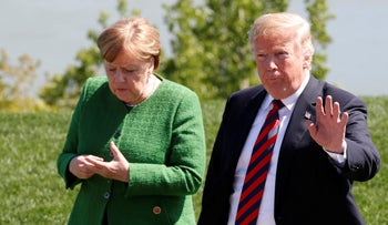 German chancellor Angela Merkel and U.S. President Donald Trump. While women leaders responded with reason to the coronavirus crisis, their male counterparts flipped out.