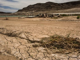 Lake Mead is shriveling