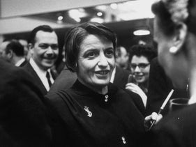 Ayn Rand, at her last lecture, 1981.