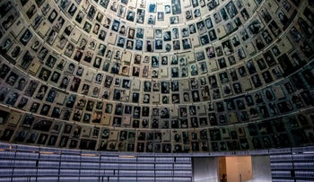 Yad Vashem, Israel's memorial to the victims of the Holocaust, stands empty amid coronavirus restrictions, April 19, 2020