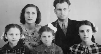 Larisa Breicher, far right, with her father David Breicher, his second wife and their children, after the war.