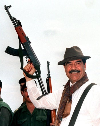 Saddam Hussein. A psychopath, but also careful not to cross the line.
