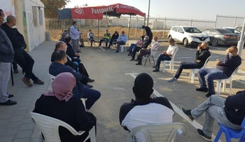 """The coronavirus """"situation room"""" at the unrecognized Bedouin village of Abu Talul, southern Israel, earlier this month"""