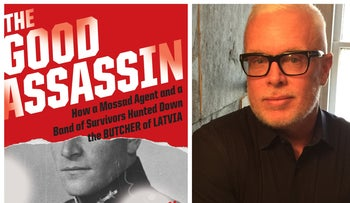"The book cover of ""The Good Assassin"" featuring Herbert Cukurs, left, and author Stephan Talty."