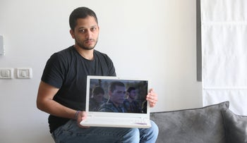 Amir Klangel, who is active in the Our Brothers memorial project.
