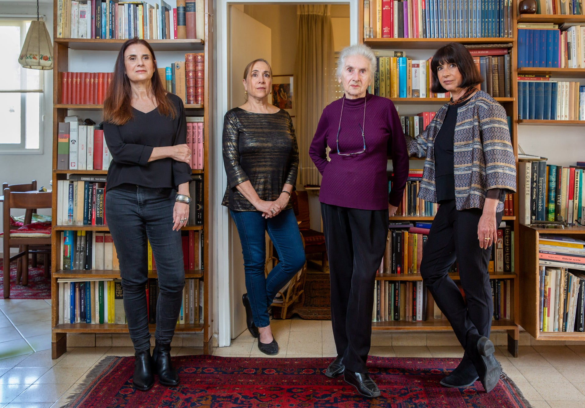 From left: Noa Gouri-Guberman, Yael Gouri, Aliza Gouri and Hamutal Gouri.