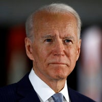 Democratic presidential candidate Joe Biden speaks to members of the press at the National Constitution Center in Philadelphia, March 10, 2020.