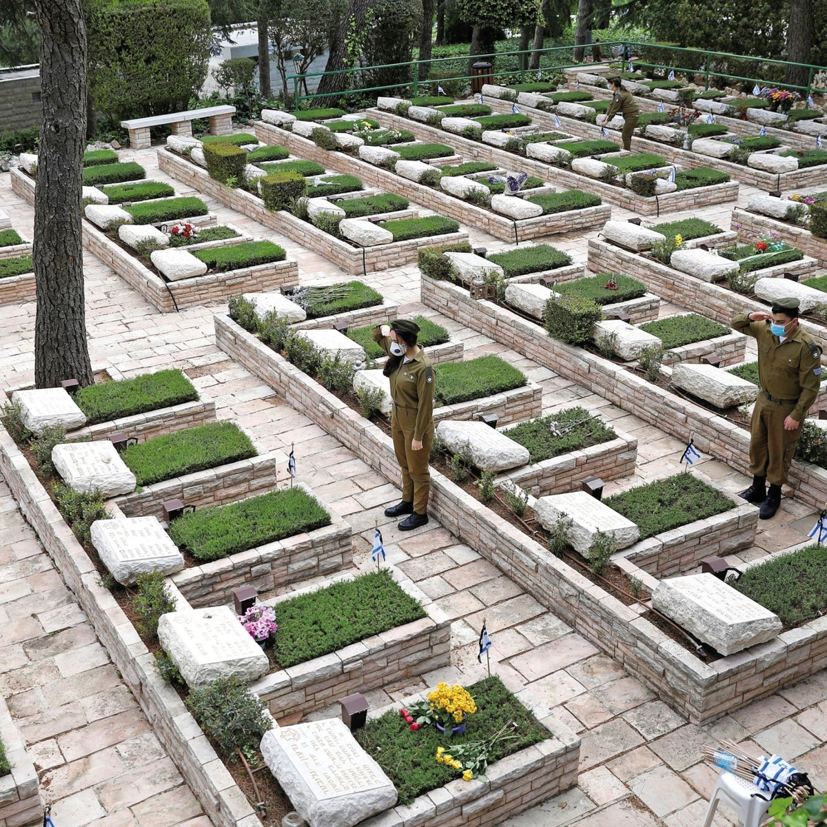 A military cemetery in Jerusalem this week, before Memorial Day.