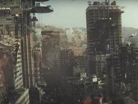 """A scene from the 2020 Egyptian TV series """"The End."""""""