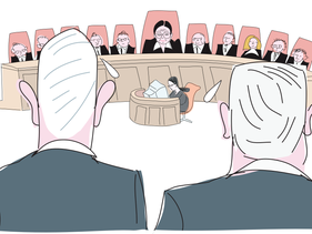 Benny Gantz and Benjamin Netanyahu await the High Court's decision on their coalition agreement, set for May 4, 2020.