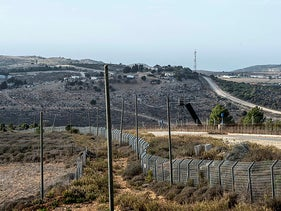 A section of the Israel-Lebanon border, in 2019.