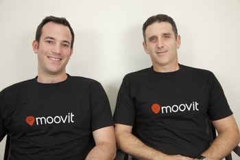 Moovit founders: CEO Erez Nir and Vice President for Operations Roy Bick