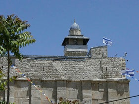 A view of the Tomb of the Patriarchs in the West Bank city of Hebron, on May 1, 2020.