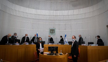 The High Court discuss the legality of Benjamin Netanyahu and Benny Gantz's coalition agreement, May 5, 2020