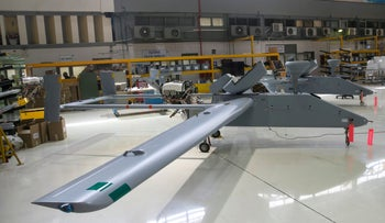 An assembly line of Unmanned Aerial Vehicle (UAV) is seen at the offices of state-owned Israel Aerospace Industries (IAI) next to Ben-Gurion International airport, Israel February 27, 2017.