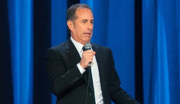 "Jerry Seinfeld performing in ""23 Hours to Kill."""