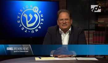 Screenshot of God TV CEO Ward Simpson discussing its new Israeli channel, Shelanu TV.