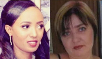 Mastwell Alaza, left, and Tatiana Khaikin, who were both killed in suspected domestic violence cases in the spring of 2020.