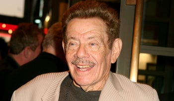 """Jerry Stiller arrives to the Broadway opening of Manhattan Theatre Club's """"Mauritius,"""" Thursday, Oct. 4, 2007, in New York"""