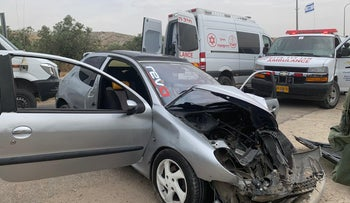 The car of the suspect in the attack, May 14, 2020.